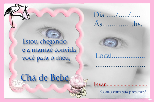 Modelos De Convites Para Ch   De Beb     Dicas E Fotos