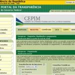 Site Portal da Transparência – www.portaldatransparencia.gov.br