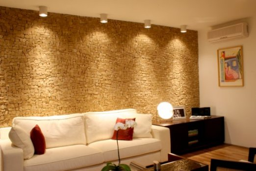 historia da decoracao de interioresPedras De Decoracao Na Parede Sala