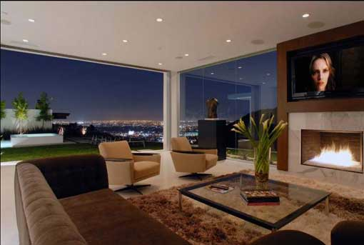 fotos decoracao de interiores de casas pequenas:Matthew Perry Hollywood Hills Home