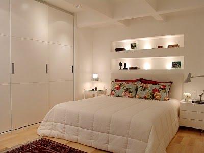 Decoração de quartos pequenos de casal