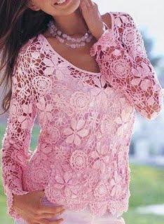 Blusa de Crochê - Preços e Modelos   Mulheres na Moda