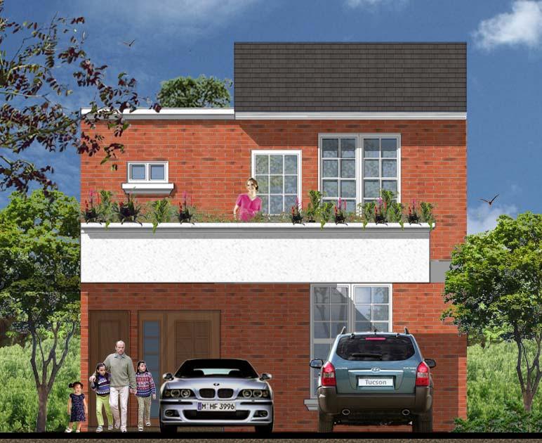 Frentes e fachadas de casas populares fotos e modelos for Modelos de frentes para casas
