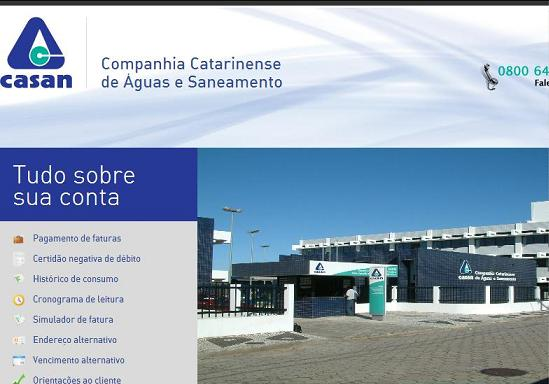 Site CASAN – www.casan.com.br