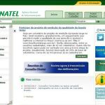 Site Anatel, www.anatel.gov.br