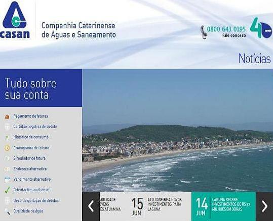 Site Corsan: www.corsan.com.br