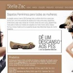 Site Calçados Stella Zac, www.stellazac.com.br