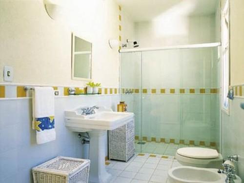 Decoração de Banheiros Simples e Barato, Dicas e Fotos -> Banheiros Simples Fotos