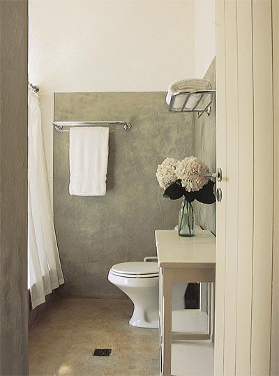 Decoração de Banheiros Simples e Barato, Dicas e Fotos -> Revestimento Para Banheiro Simples E Barato