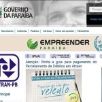 Site Detran PB – www.detran.pb.gov.br
