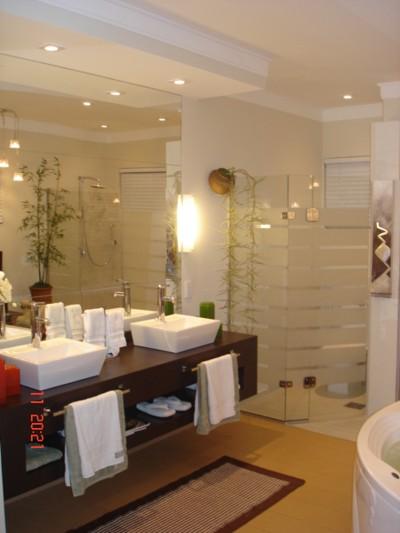 Decoração para Banheiros de Casal, Dicas e Fotos -> Banheiro Pequeno Casal
