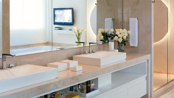 Decoração para Banheiros de Casal, Dicas e Fotos -> Decoracao Banheiro Facil