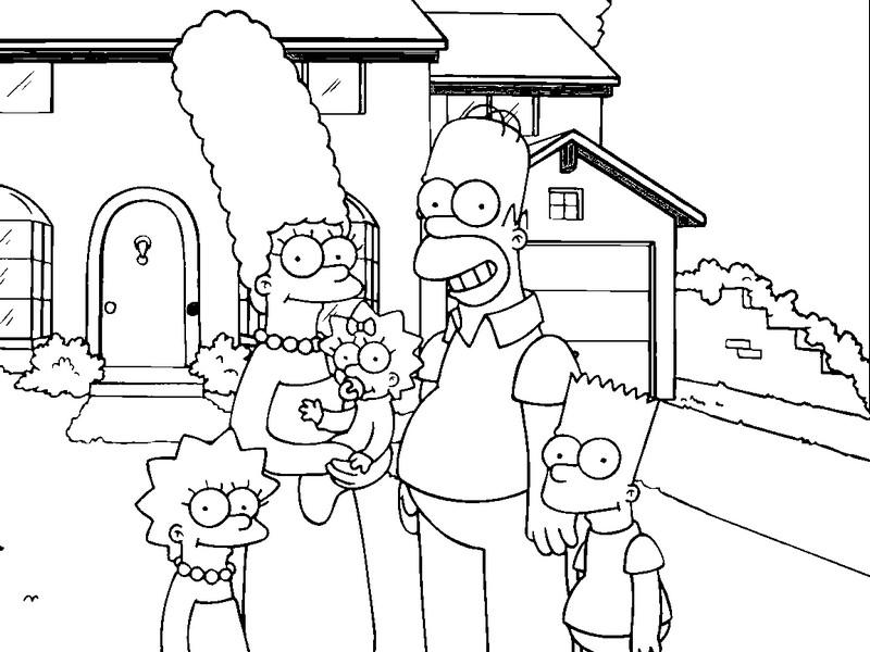 Desenhos Para Colorir Os Simpsons