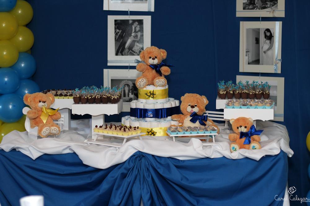 decoracao azul e amarelo para cha de bebe : decoracao azul e amarelo para cha de bebe:Decoração de Chá de Bebê Criativa, Fotos e Dicas de como Decorar
