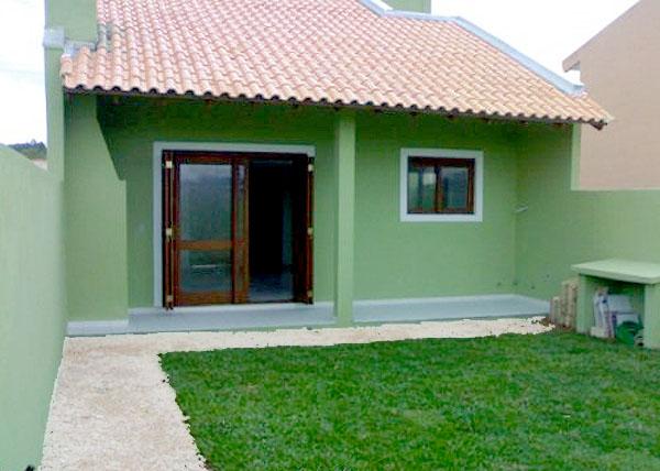 Frente de casas simples imagui for Modelos de frentes de casas