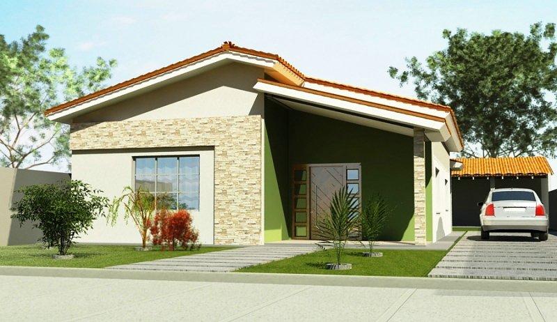 Modelos de frentes de casas simples for Frentes de casas