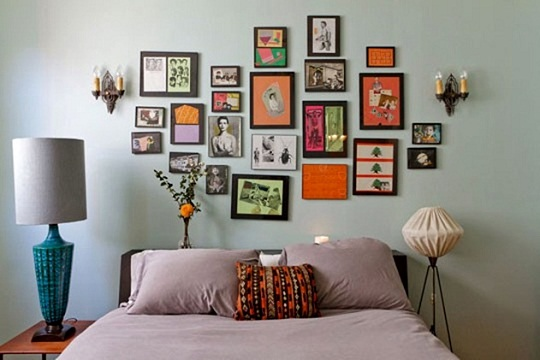 Paredes decoradas com fotos dicas de como fazer modelos - Pared decorada con fotos ...