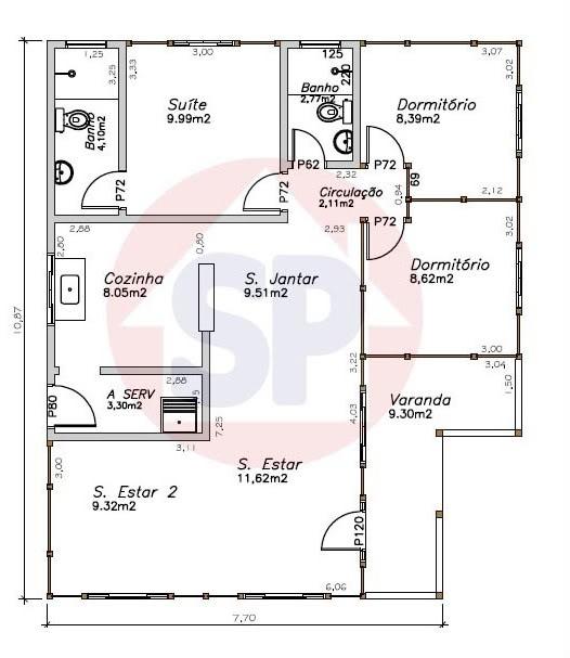 Plantas de casas gr tis modelo de planta baixa e projetos - Casas on line ...