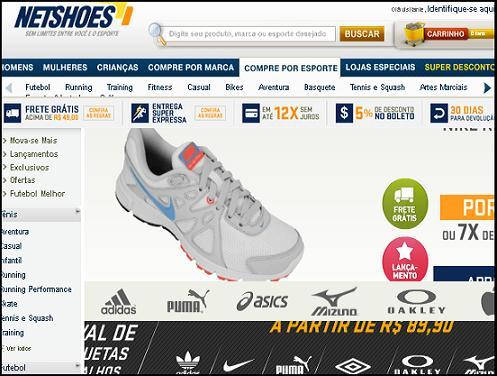 www.netshoes.com.br – Loja Virtual – Site Netshoes