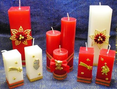 Modelos de velas decoradas - Velas de navidad decoradas ...