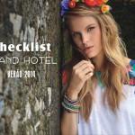 Coleção Verão 2014 Checklist