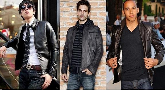 Jaquetas de Couro Masculinas Moda 2014