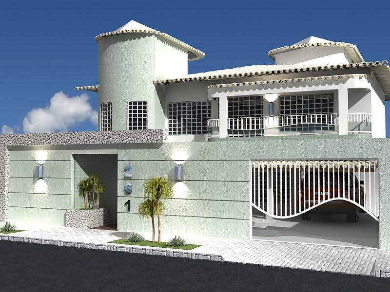 modelos de frente de casas com muros On modelos de frentes para casas