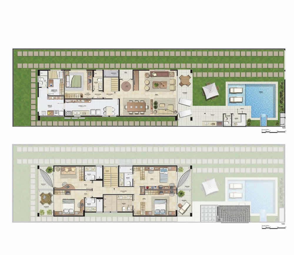 Plantas de casas com piscinas simples modelos dicas for Plantas para piscinas