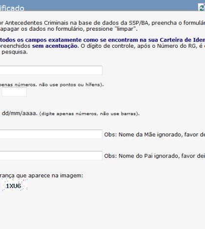 Consulta de Ficha Criminal Online