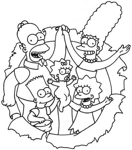 Desenhos Para Colorir Os Simpsons Modelos Para Imprimir