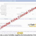 Consulta de Ficha Criminal Online: Como Consultar